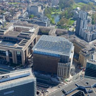 Bruxelles - Résidence Palace - Vue aérienne | Brussel - Residence Palace - Luchtfoto
