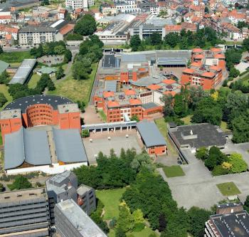 Elsene - Europese school - Luchtfoto   Ixelles - Ecole européenne - Vue aérienne